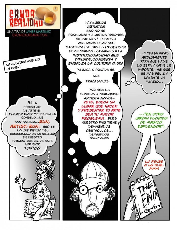 Cruda Realidad Cómic de Javier Martinez.