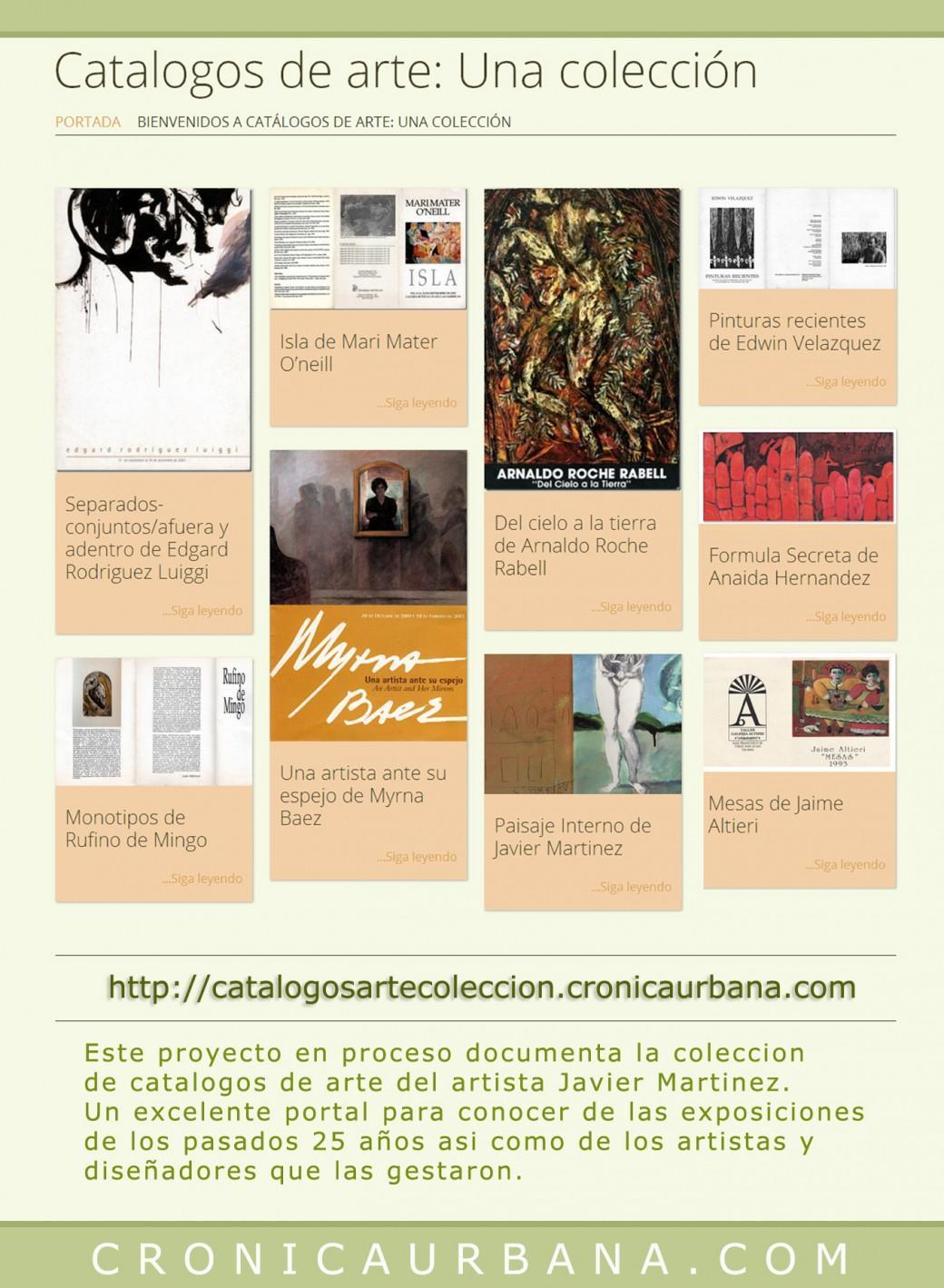 Catálogos de arte una colección proyecto de Javier Martinez acerca de los catálogos de arte como documentación del arte..