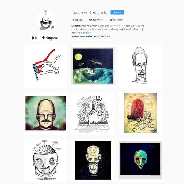 La obra de javier Martinez en Instagram